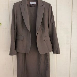 Tahari ASL Women's Brown Dress Suit Size 8